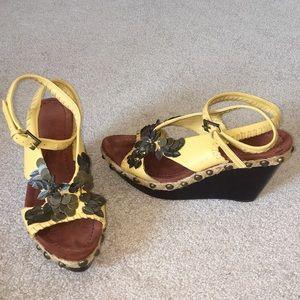 Sam Edelman wedge sandals 7.5